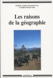 Les raisons de la géographie - Couverture - Format classique