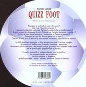 Quizz Foot ; Tout Le Football En 350 Questions - 4ème de couverture - Format classique