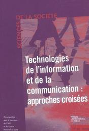 Technologies De L Information Et De La Communication Approches Croisees - Intérieur - Format classique