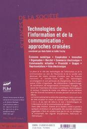 Technologies De L Information Et De La Communication Approches Croisees - 4ème de couverture - Format classique