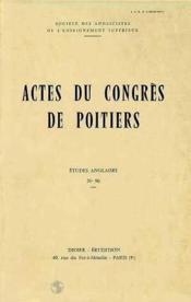 Actes du xxe congres de la societe des anglicistes de l - Couverture - Format classique
