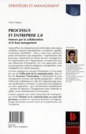Processus et entreprise 2.0 ; innover par la collaboration et le Lean management - 4ème de couverture - Format classique