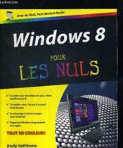 Windows 8 pour les nuls - Couverture - Format classique