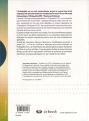 Ostéopathie ORL ; enfant et adulte - 4ème de couverture - Format classique