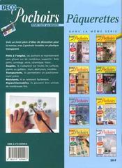 Deco Pochoirs Pour La Maison ; Paquerettes - 4ème de couverture - Format classique