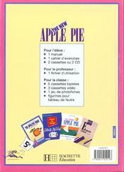 The new apple pie 5e lv1 - anglais - livre de l'eleve - edition 1995 - 4ème de couverture - Format classique