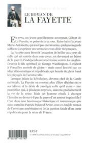 Le roman de La Fayette - 4ème de couverture - Format classique