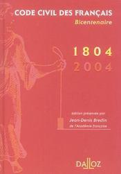 Code civil des francais de 1804. bicentenaire - Intérieur - Format classique