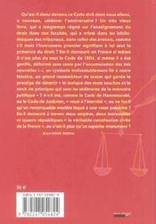 Code civil des francais de 1804. bicentenaire - 4ème de couverture - Format classique