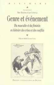 Genre et evenement du masculin et du feminin en histoire des crises et des conflits - Intérieur - Format classique