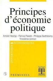 Principes d'economie politique - Couverture - Format classique