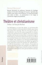 Theatre et christianisme - 4ème de couverture - Format classique
