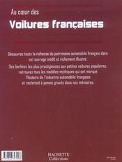 Au Coeur Des Voitures Francaises - 4ème de couverture - Format classique