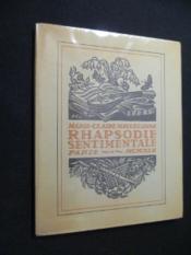 Rhapsodie sentimentale - Couverture - Format classique