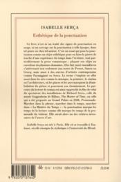 Esthétique de la ponctuation - 4ème de couverture - Format classique
