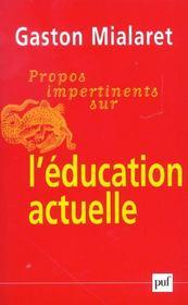 Propos impertinents sur l'éducation actuelle - Intérieur - Format classique