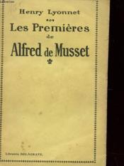 Les Premieres De Alfred Musset - Couverture - Format classique