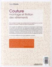 Le modélisme de mode t.4 ; couture, montage et finition des vêtements - 4ème de couverture - Format classique