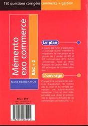 Memento Etude De Cas - 4ème de couverture - Format classique