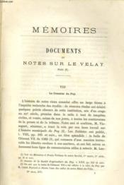 DOCUMENTS ET NOTES SUR LE VELAY suite (1) - Couverture - Format classique