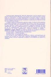 Droit administratif general - 4ème de couverture - Format classique
