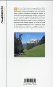 Chartreuse ; les plus belles randonnées - 4ème de couverture - Format classique