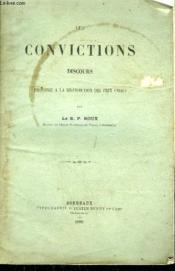 Les Convictions Discours Prononce A La Distribution Des Prix 1868. - Couverture - Format classique