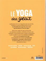 Le yoga des yeux - 4ème de couverture - Format classique