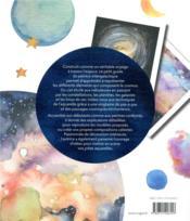 Mon petit cosmos à l'aquarelle - 4ème de couverture - Format classique