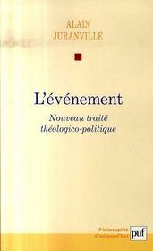 L'événement ; nouveau traité théologico-politique - Intérieur - Format classique