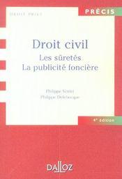 Droit civil ; les sûretés ; la publicité foncière - Intérieur - Format classique