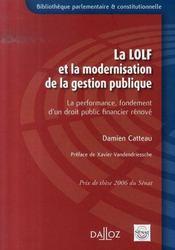La LOLFet la modernisation de la gestion publique ; la performance, fondement d'un droit financier rénové - Intérieur - Format classique