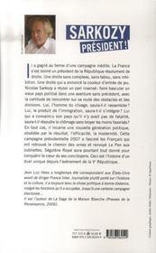 Sarkozy président ! - 4ème de couverture - Format classique