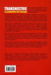 Transnistrie, la poudrière de l'Europe - 4ème de couverture - Format classique