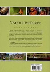 Vivre à la campagne, le guide pratique - 4ème de couverture - Format classique