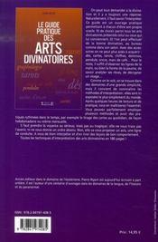 Le guide pratique des arts divinatoires - 4ème de couverture - Format classique