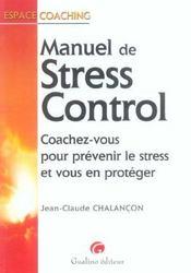 Le guide du stress control - Intérieur - Format classique