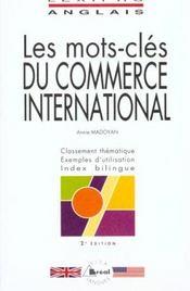Lexipro anglais commerce internat. - Intérieur - Format classique