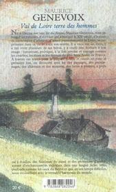 Val De Loire,Terre Des Hommes - 4ème de couverture - Format classique