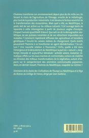 Populations Neolithiques Et Environnements - 4ème de couverture - Format classique