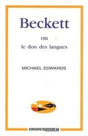Beckett ou le don des langues - Couverture - Format classique