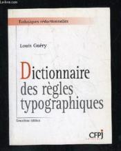 Dictionnaire des regles typographiques - Couverture - Format classique