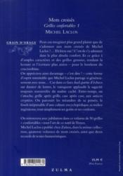 Mots croisés t.1 ; grilles confortables - 4ème de couverture - Format classique