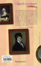 Orgueil et préjugés et zombies - 4ème de couverture - Format classique