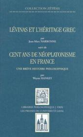 Levinas et l heritage grec - Couverture - Format classique