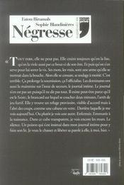Négresse - 4ème de couverture - Format classique