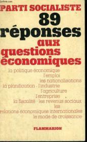 89 Reponses Aux Questions Economiques. - Couverture - Format classique