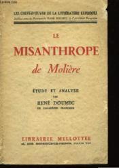 Le Misanthrope de Molière. - Couverture - Format classique