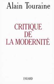 Critique de la modernité. - Couverture - Format classique