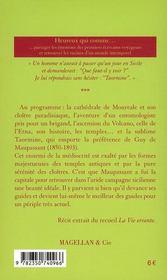 La Sicile (2e édition) - 4ème de couverture - Format classique